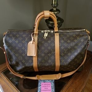 🚫SOLD🚫Auth Louis Vuitton Keepall 50 Bandouliere